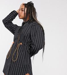 Платье-рубашка в стиле oversize с полосками COLLUSION-Мульти