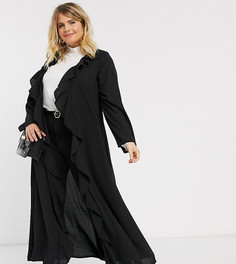 Черная куртка с оборками Verona Curve-Черный