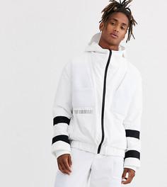 Белая куртка на молнии с сетчатыми вставками и ремешками COLLUSION-Белый