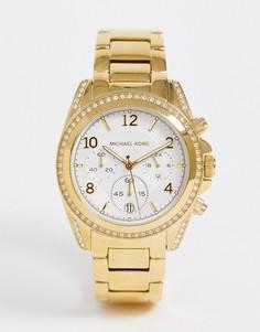 Женские золотистые часы-браслет с хронографом Michael Kors-Золотой