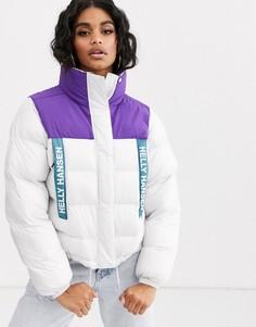 Белая дутая куртка Helly Hansen-Белый