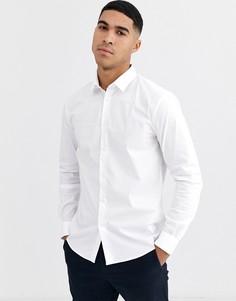 Белая строгая рубашка Celio-Белый
