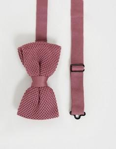 Пыльно-розовый трикотажный галстук-бабочка Twisted Tailor