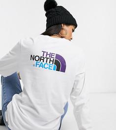 Белая футболка с длинным рукавом The North Face Easy эксклюзивно для ASOS-Белый