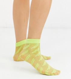 Прозрачные носки до щиколотки с логотипом ASOS DESIGN x Christian Cowan-Черный