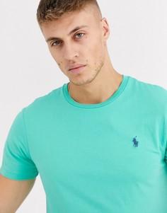 Светло-зеленая футболка с логотипом Polo Ralph Lauren-Зеленый