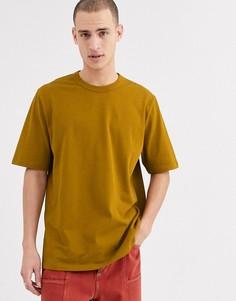 Свободная футболка насыщенного коричневого цвета ASOS WHITE-Коричневый