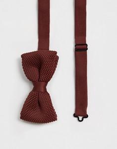 Коричневый трикотажный галстук-бабочка Twisted Tailor