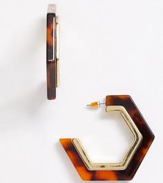 Черепаховые серьги-кольца Reclaimed Vintage Inspired-Золотой