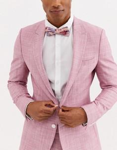 Розовый галстук-бабочка с цветочным принтом Moss London