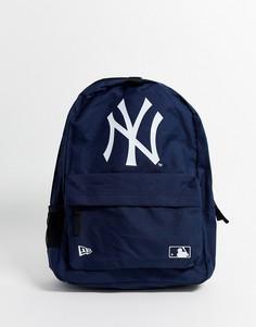 Темно-синий рюкзак с логотипом команды MLB NY от New Era