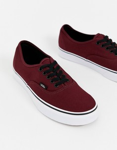 Бордовые кроссовки Vans Authentic-Красный