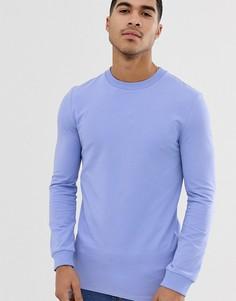 Сиреневый длинный обтягивающий свитшот ASOS DESIGN-Фиолетовый