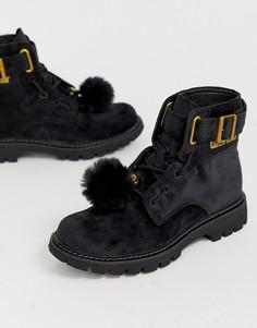 Ботинки на шнуровке Caterpillar-Черный