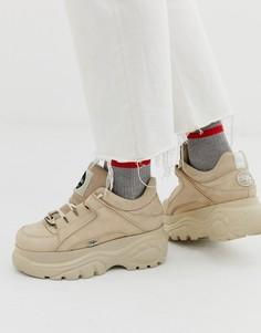 Светло-бежевые кроссовки на толстой подошве Buffalo Classic-Светло-бежевый