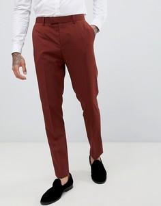 Облегающие брюки цвета ржавчины River Island-Красный