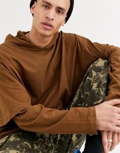 Oversize-худи коричневого цвета с длинными рукавами ASOS DESIGN-Коричневый