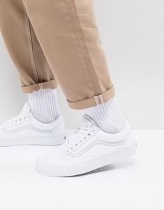 Белые кроссовки Vans classic Old Skool-Белый