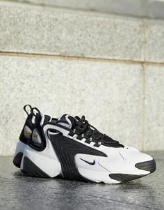 Черно-белые кроссовки Nike Zoom 2k AO0269-101-Черный
