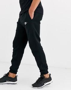 Черные повседневные джоггеры с кромкой манжетом Nike - Club-Черный