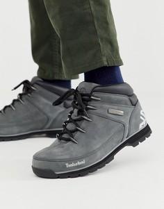 Серые походные ботинки Timberland euro sprint-Серый