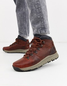 Коричневые кожаные походные ботинки Timberland World-Коричневый