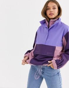 Флисовая куртка с нашивками ASOS DESIGN-Мульти
