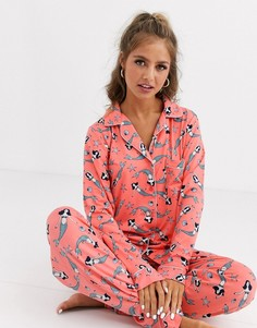 Пижамный комплект Chelsea Peers Mermaid-Оранжевый