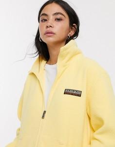 Желтая флисовая куртка на молнии Napapijri Tase-Желтый