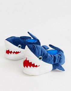 Слиперы в виде акулы Loungeables-Синий