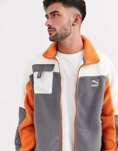 Серая флисовая куртка Puma XTG-Серый