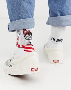 Носки в спортивном стиле с принтом ASOS DESIGN-Белый