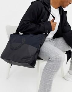 Черная сумка почтальона с логотипом Fred Perry-Черный