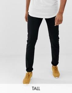 Черные суженные книзу джинсы слим с заниженной талией Levis big & tall 512-Черный