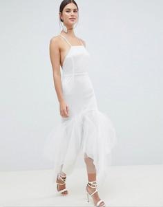 Кружевное платье макси C By Cubic-Белый