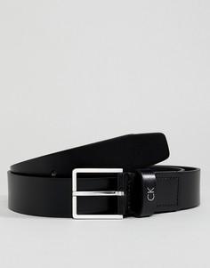 Черный кожаный ремень Calvin Klein Mino