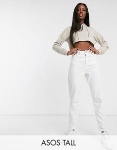 Свободные джинсы бойфренда кремового цвета из крупного вельвета ASOS DESIGN Tall-Кремовый