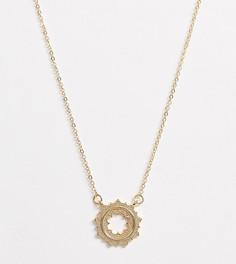 Золотистое ожерелье с подвеской Pieces-Золотой