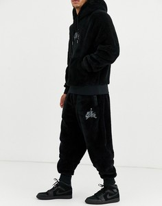 Черные флисовые джоггеры Nike Jordan-Черный