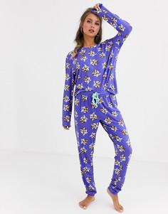 Пижама с принтом Chelsea Peers-Фиолетовый