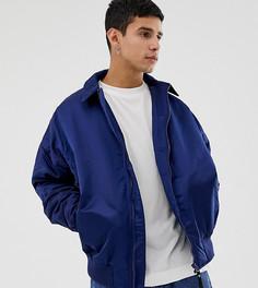 Темно-синяя дутая oversize-куртка Харрингтон COLLUSION-Темно-синий