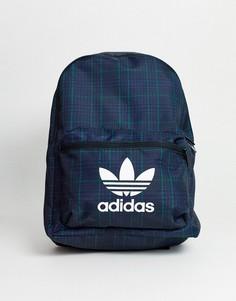 Рюкзак в клетку тартан с логотипом-трилистником adidas Originals-Мульти