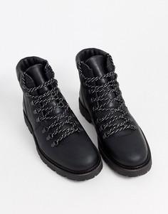 Черные ботинки на массивной подошве Selected Homme-Черный