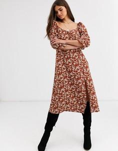 Платье с пышными рукавами Vila-Мульти