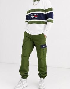 Джоггеры цвета хаки с карманами-карго Tommy Jeans-Зеленый