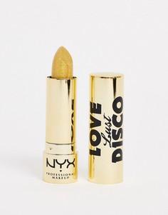 Губная помада ограниченной серии с блестящим эффектом NYX Professional Makeup - Love Lust & Disco (Gold Dipper)-Мульти