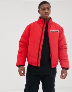 Красная дутая куртка с карманами Religion-Красный