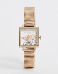 Наручные часы с отделкой в виде пчелы Olivia Burton-Золотой