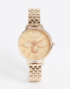 Наручные часы цвета розового золота с блестками на циферблате Olivia Burton-Золотой
