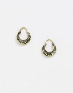 Золотистые серьги-кольца Reclaimed Vintage inspired эксклюзивно для ASOS-Золотой